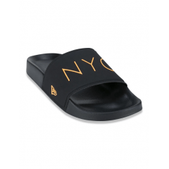 CHINELO NEW ERA SLIDE NYC PRETO/LARANJA