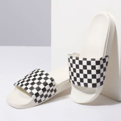 Chinelo Vans Slide On Checkerboard White